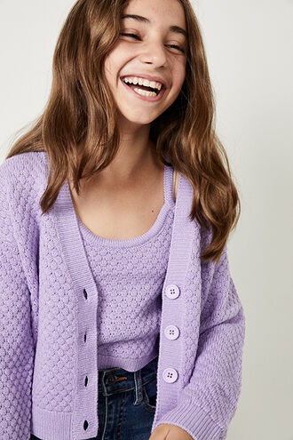 LABELLE KNIT SET in colour VIOLET TULIP