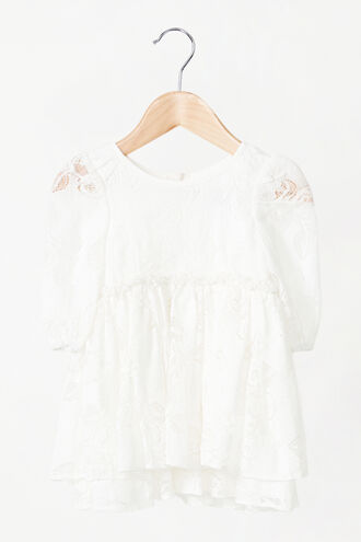 LANI LACE MINI DRESS in colour CLOUD DANCER