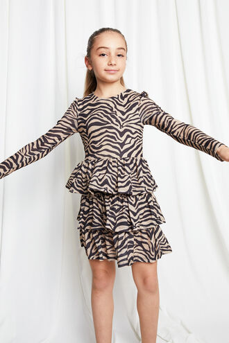 ZEBRA RARA DRESS in colour TAPIOCA