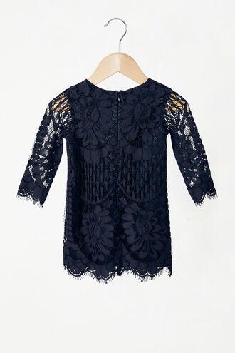 SOFIA LACE DRESS in colour BLACK IRIS
