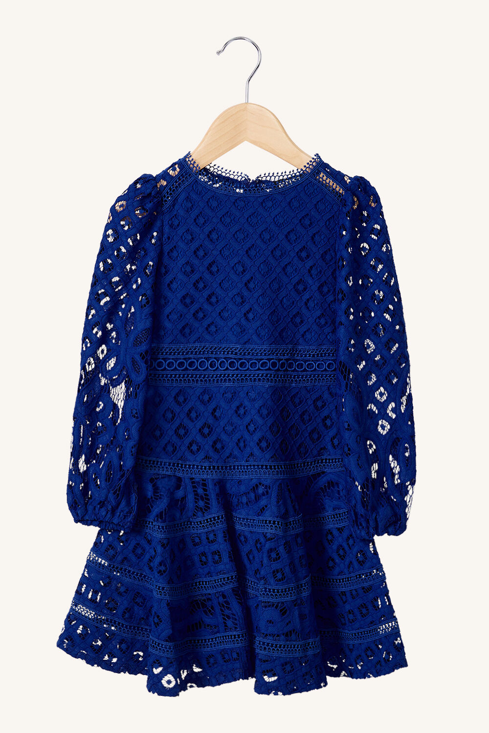 GIRLS THE PARTY LACE DRESS in colour BRIGHT COBALT