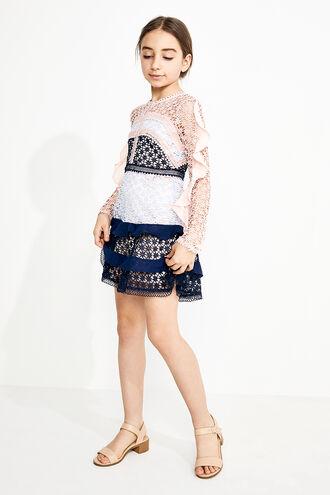 ARABELLA LACE DRESS in colour PEACH BLUSH