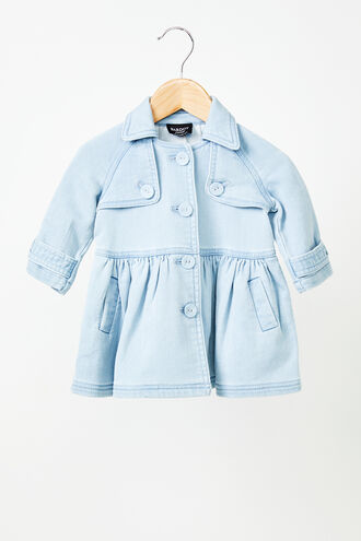 DENIM MIA TRENCH in colour FADED DENIM