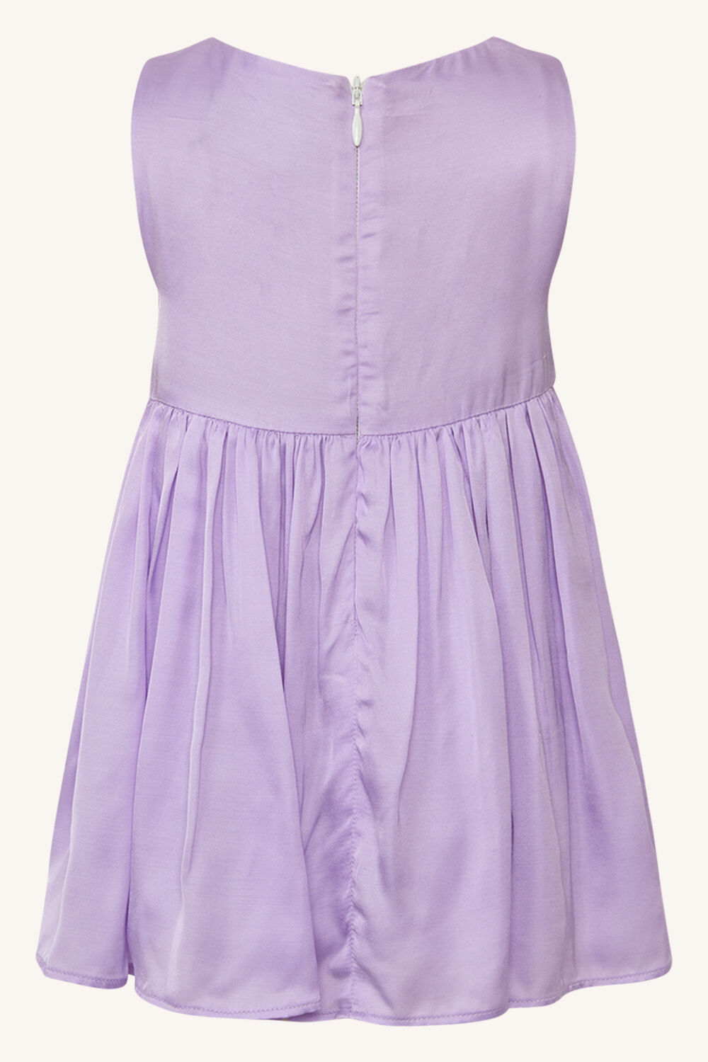 BABY GIRL BOWIE MINI DRESS in colour LILAC CHIFFON