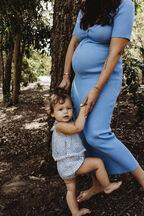 BABY GIRL DAISY GROW in colour POWDER BLUE