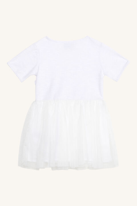 BABY GIRL WRAP BALLET DRESS in colour CLOUD DANCER