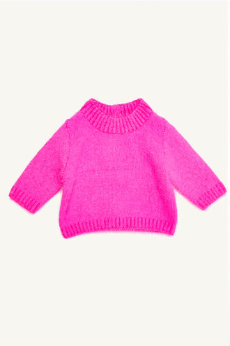 SARA FLUFFY KNIT in colour BEETROOT PURPLE
