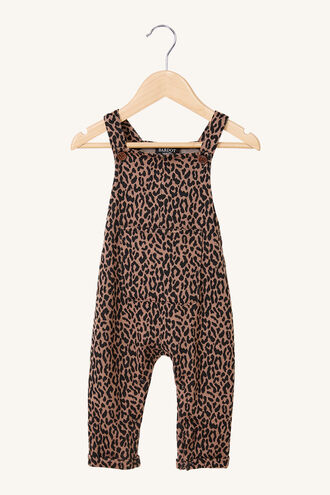 LEOPARD OVERALLS in colour LATTE