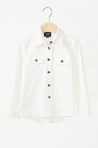 ESTELLE CORD SHIRT in colour CLOUD DANCER