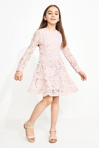 ARIA LACE DRESS in colour PRIMROSE PINK