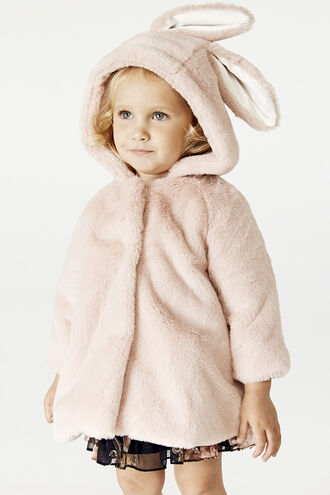 LOLA BUNNY COAT in colour PEACH BLUSH
