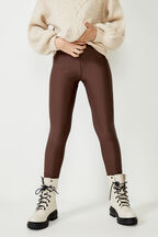 GIRLS ROLLER LEGGING  in colour CHOCOLATE BROWN