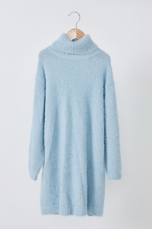 GIRLS LIANNA KNIT DRESS in colour ASHLEY BLUE