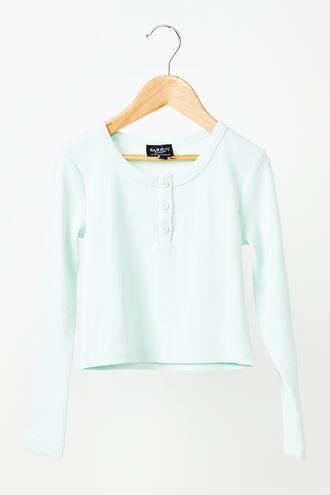 AMALIE RIB TEE in colour MINT