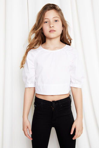 PUFF SLEVE TOP in colour BRIGHT WHITE