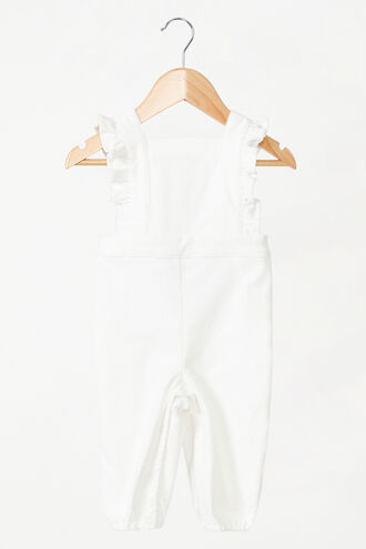 ESTELLE CORD OVERALLS in colour CLOUD DANCER