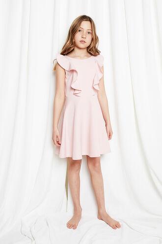 RILEY RUFFLE DRESS in colour POTPOURRI