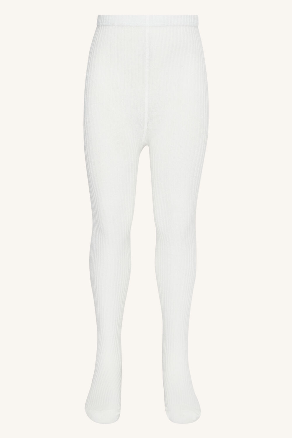 GIRLS RIBBED TIGHTS in colour CLOUD DANCER
