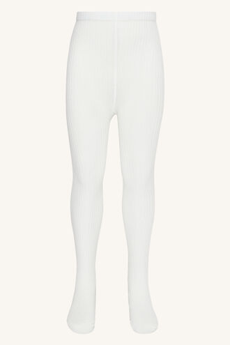 RIBBED TIGHTS in colour CLOUD DANCER