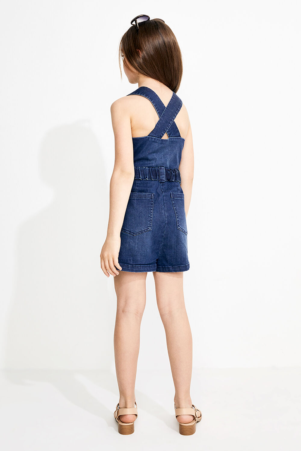 JUNIOR GIRL NEL UTILITY PLAYSUIT in colour TRUE NAVY