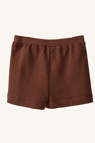 TRACK SHORT in colour CHOCOLATE BROWN