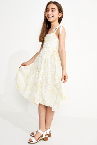 TIERED FLORAL MAXI DRESS  in colour LEMON  FLORAL