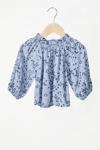GEORGIE PRINTED TOP in colour STAR WHITE