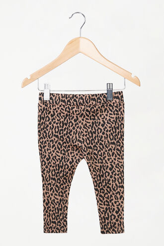 LEOPARD LEGGING in colour LATTE