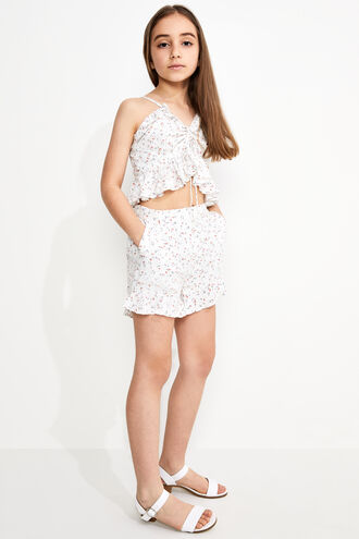 DITSY FRILL SHORTS in colour SNOW WHITE