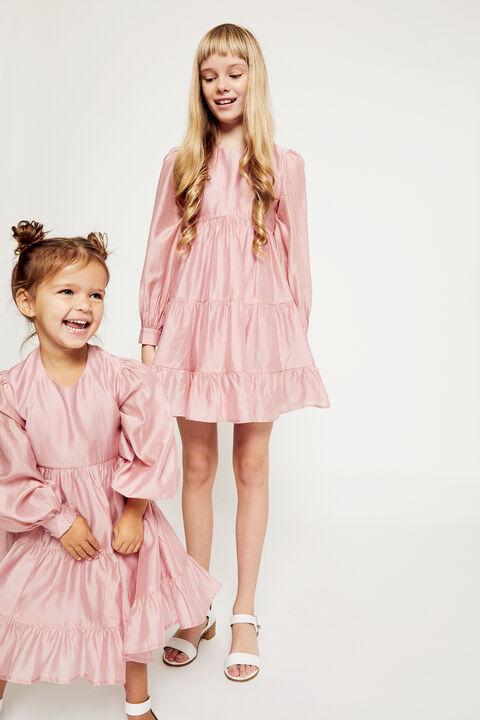 GIRLS HARLOW MINI DRESS in colour BLUSHING BRIDE