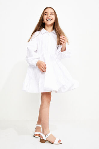 MINI POPLIN DRESS in colour BRIGHT WHITE