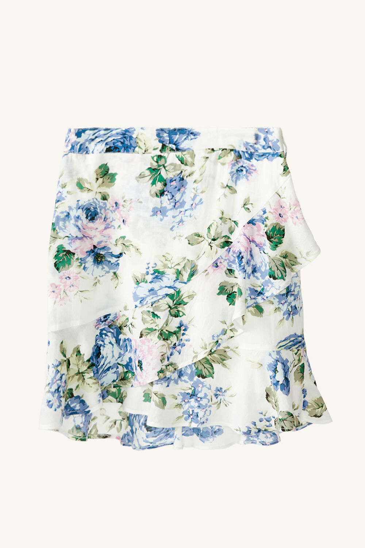TWEEN GIRL SAMMIE FLORAL SKIRT in colour CLEMATIS BLUE